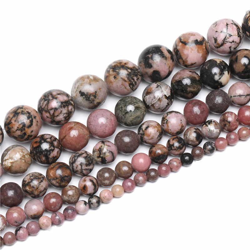 الحجر الطبيعي ماتي عين النمر مورغانيتي Agates حجر الخرز المستديرة لصنع المجوهرات سوار ذاتي الصنع 15 ''4 مللي متر 6 مللي متر 8 مللي متر 10 مللي متر 12 مللي متر