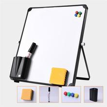 1set/8pcs Tabletop Whiteboard Office School Writing Board With Pen Eraser Magnets Buttons Kids Home Office Message Drawing Board
