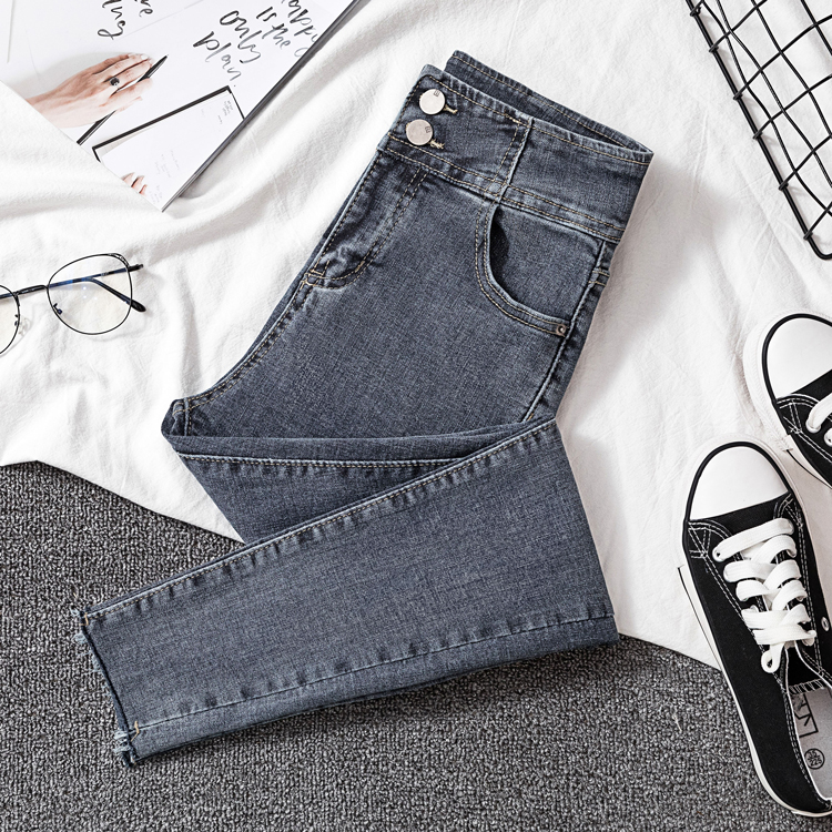 New Woman denim pants high elastic waist slim jeans for woman autumn spring pencil pant female 2020