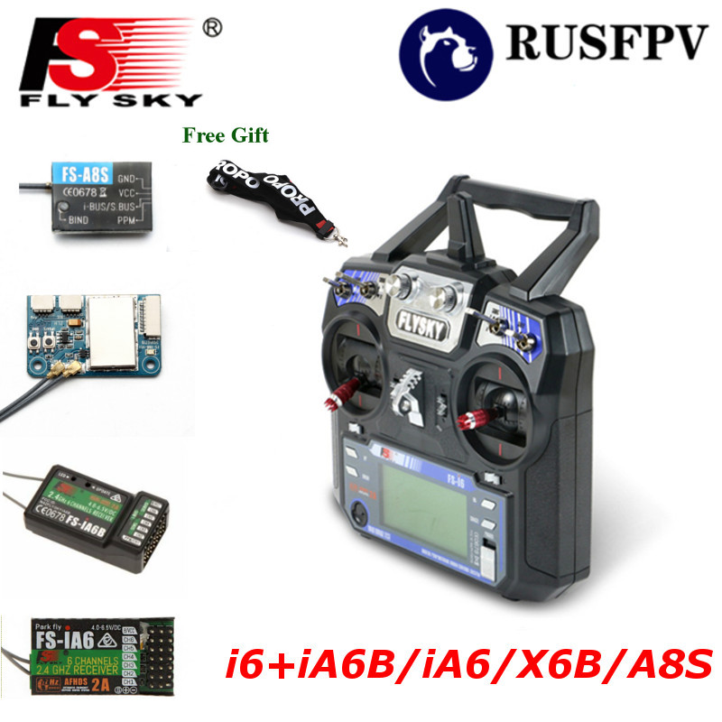 Flysky FS-i6 FS i6 2.4G 6CH Transmitter With FS-iA6 FS-iA6B FS-A8S Receiver For Helicopter Airplane FPV Racing Drone Mode1 Mode2