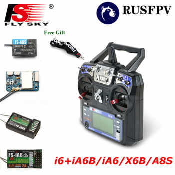 Flysky FS-i6 FS i6 2.4G 6CH Transmitter With FS-iA6 FS-iA6B FS-A8S Receiver For Helicopter Airplane FPV Racing Drone Mode1 Mode2 - DISCOUNT ITEM  51% OFF All Category