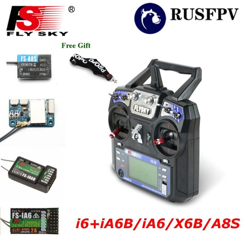 Flysky FS-i6 fs i6 2.4g 6ch transmissor com FS-iA6 FS-iA6B FS-A8S receptor para helicóptero avião fpv racing drone mode1 mode2
