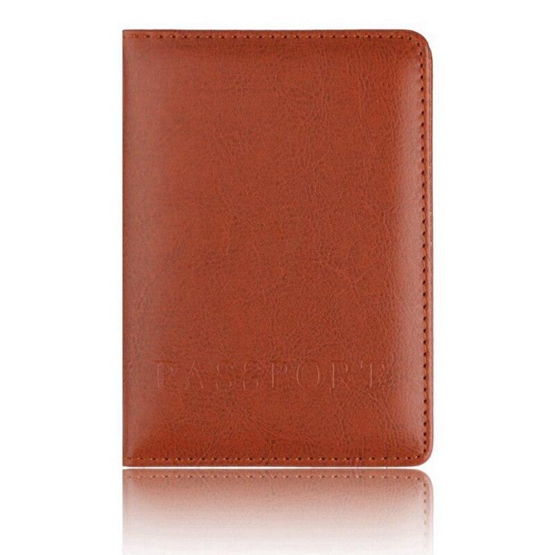 Держатель для карт кошелек многофункциональная сумка Обложка на паспорт держатель протектор бумажник для визиток Мягкая обложка для паспорта - Цвет: BR