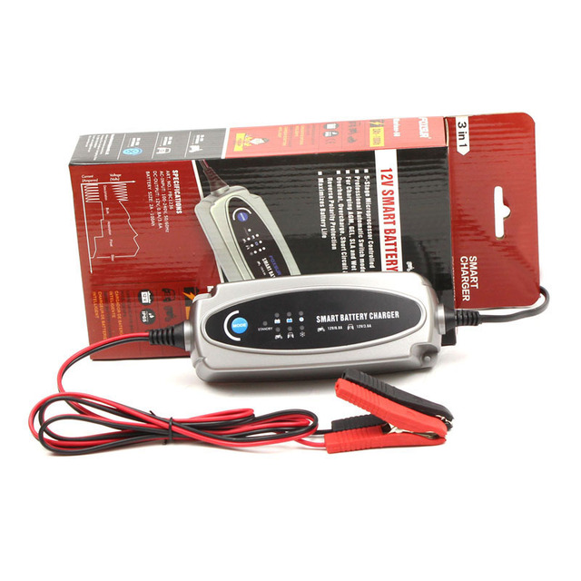 12 v 0.8A/3.6A Smart Battery Charger, laadstroom Selecteerbare Lood-zuur Batterij Oplader voor Motorfiets en Auto Charger