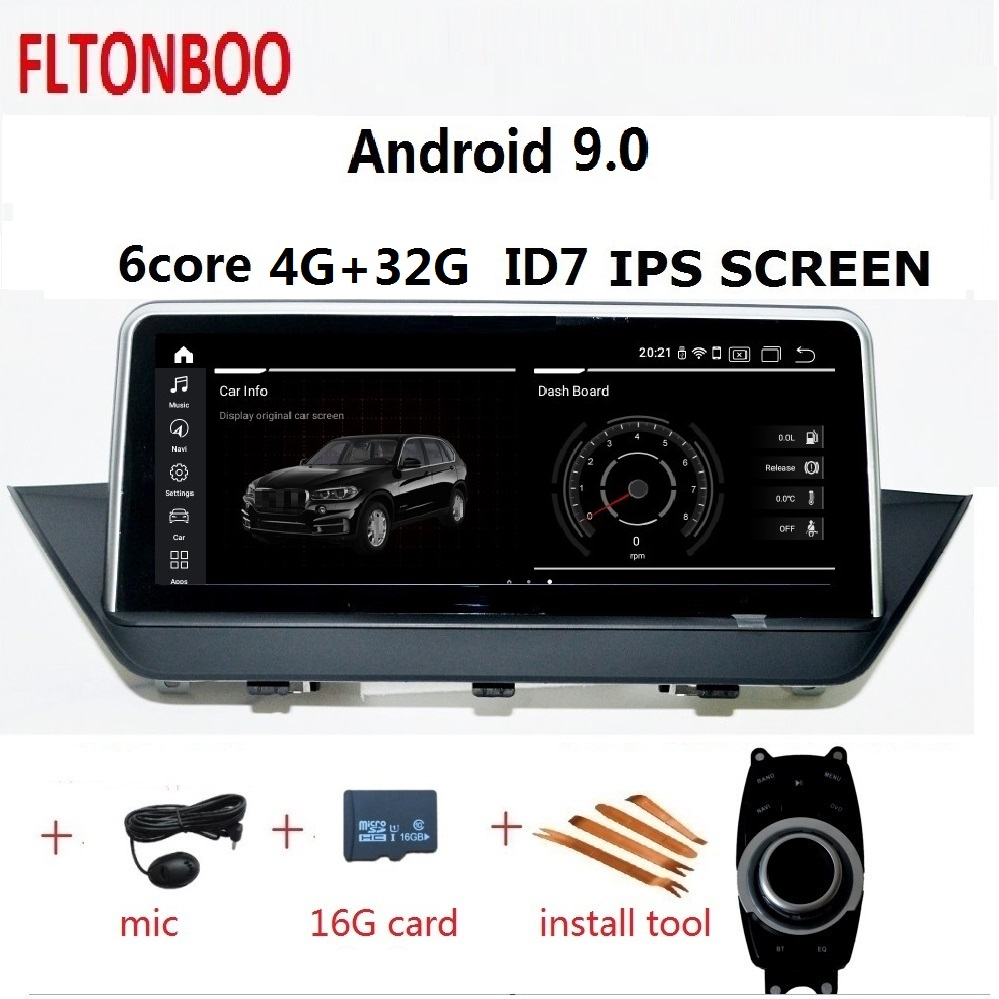 10 25 Android 9 Car Gps radio player navigation ID7 for BMW X1 E84 6 core