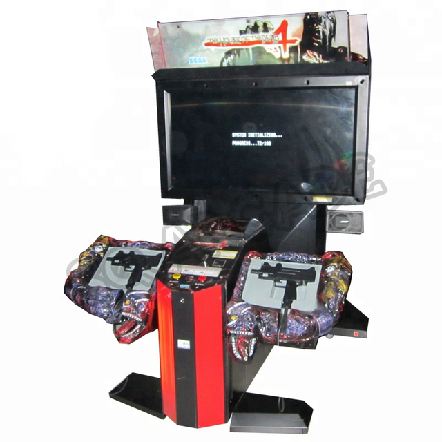 2Pcs The House Of Dead 4 Gun Shooting Simulator Arcade Game Machine Plastic Gun Parts for Coin Operated Amusement Equipment