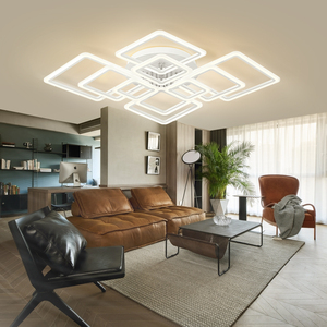 Image 4 - Modern LED ceiling lamp dimmable  remote control lamp bedroom living room ceiling lamp