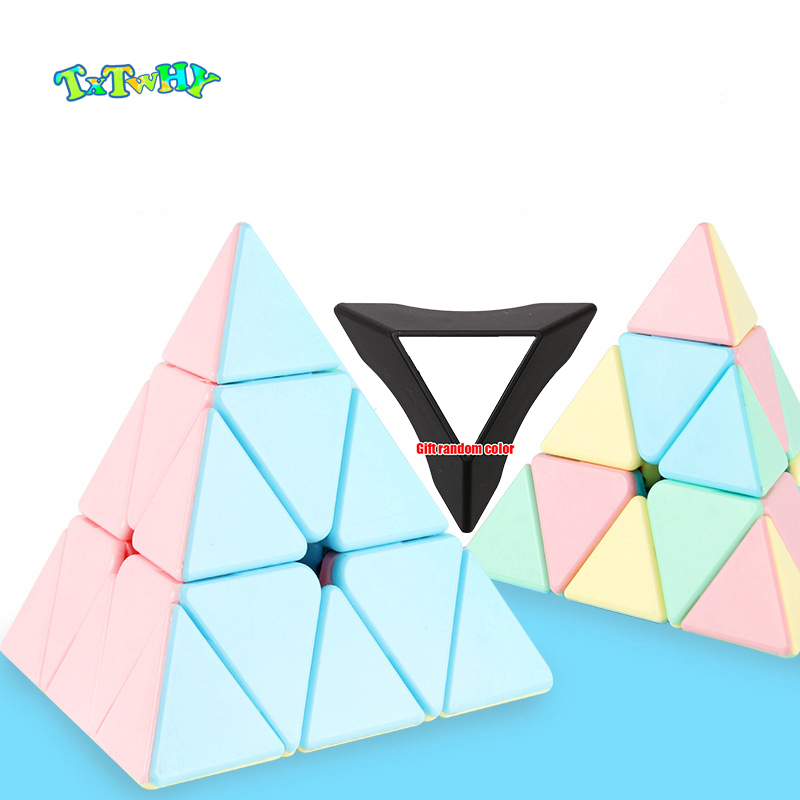 Lesiostress Original 3x3x3 Pyramid Magic Cube Macaron Pyramid Rubiks Color Special Toys Puzzle Education Toys For Children Gift