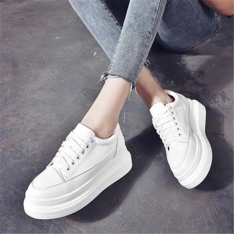 Women High Platform Sneakers Black
