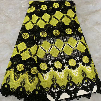 Most fashion lady dress material chemical water soluble lace fabric guipure lace textile for party dress VRW34(5yards/lot)