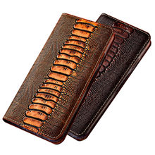 Crocodile texture genuine leather holster card holder case for Xiaomi Redmi Note 7 Pro/Xiaomi Redmi Note 7 phone bag stand funda(China)