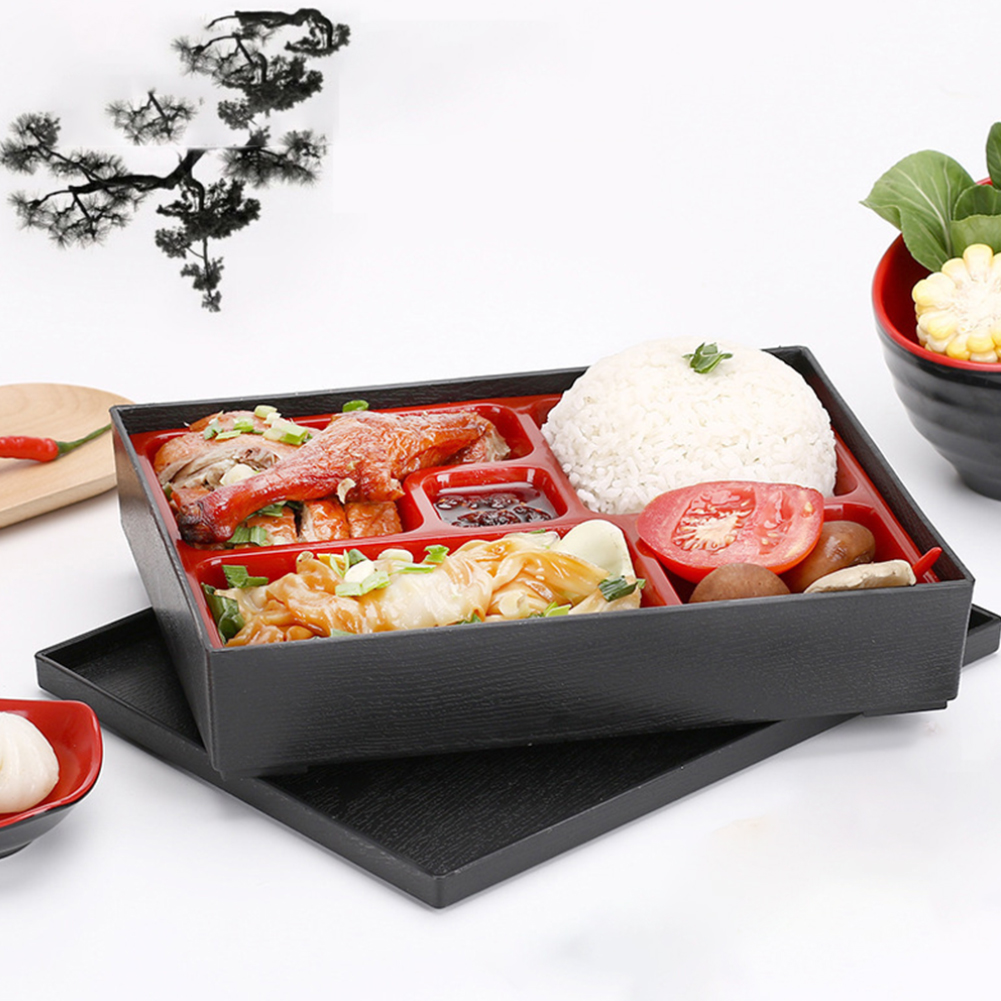 Office Picnic Portable Durable Lunch Box Bento Box ABS School Safe Rice Food Containers 5-section Japanese Style Sushi Catering