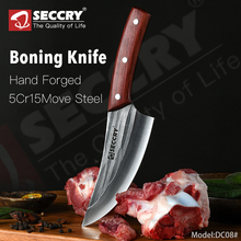 SECCRY Handmade Forged 5Cr15Mov Steel Boning Knife Cleaver Knife Professional Butcher