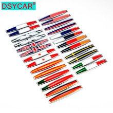 DSYCAR – drapeau National 3D Premium en métal, 1 paire de décalcomanies pour ailes latérales de voiture, emblème de coffre arrière