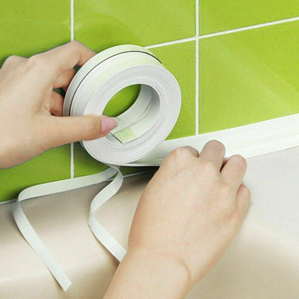 22MM/38MM Bath Wall Sealing Strip Self-Adhesive Kitchen Caulk Tape Bathroom 3.2m