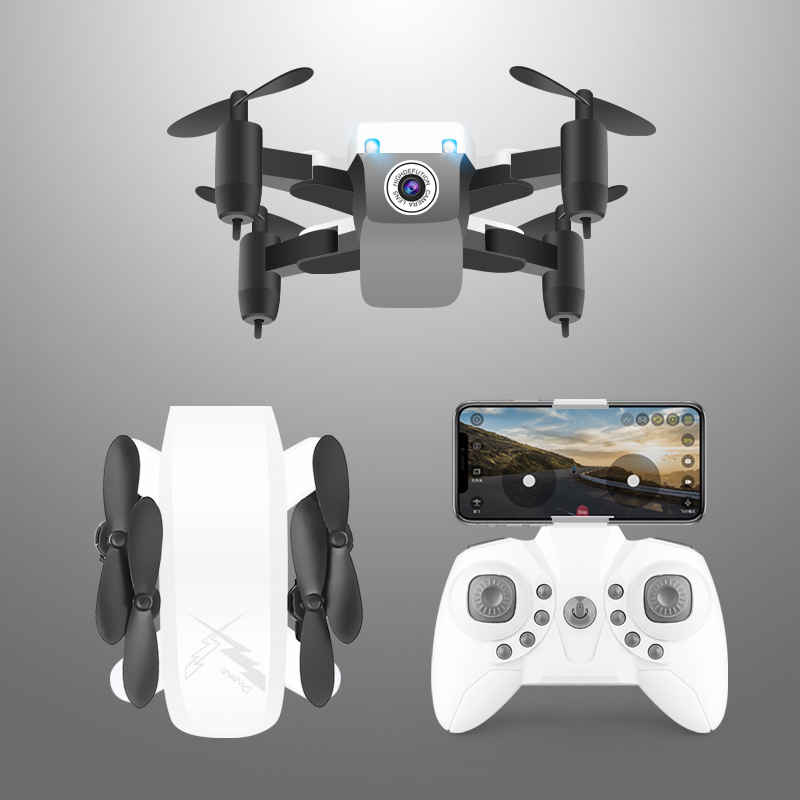 D9 Mini Folding Quadcopter Set High Unmanned Aerial Vehicle WiFi Real-Time Aerial Remote-control Aircraft S9