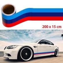 2/3m carro vinil gráfico decalque auto adesivos e decalque m-colorido listra adesivo carro vinil decalque para bmw m3 m4 m5 m6 3 5 6 7 series