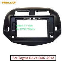 """FEELDO Car Stereo 2Din 10.1"""" Big Screen Fascia Frame Adapter For Toyota RAV4 07 12 Audio Dash Panel Frame Fitting Kit"""