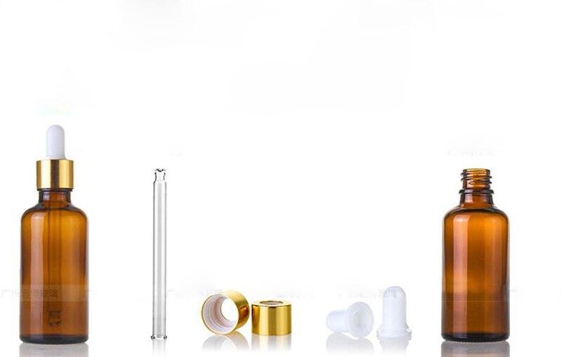 Оптовая продажа 5 мл 10 мл 15 мл 20 мл 25 мл 30 мл 50 мл 100 мл бутылка капельница из янтарного стекла пустые косметические бутылки для эфирного масла - 6