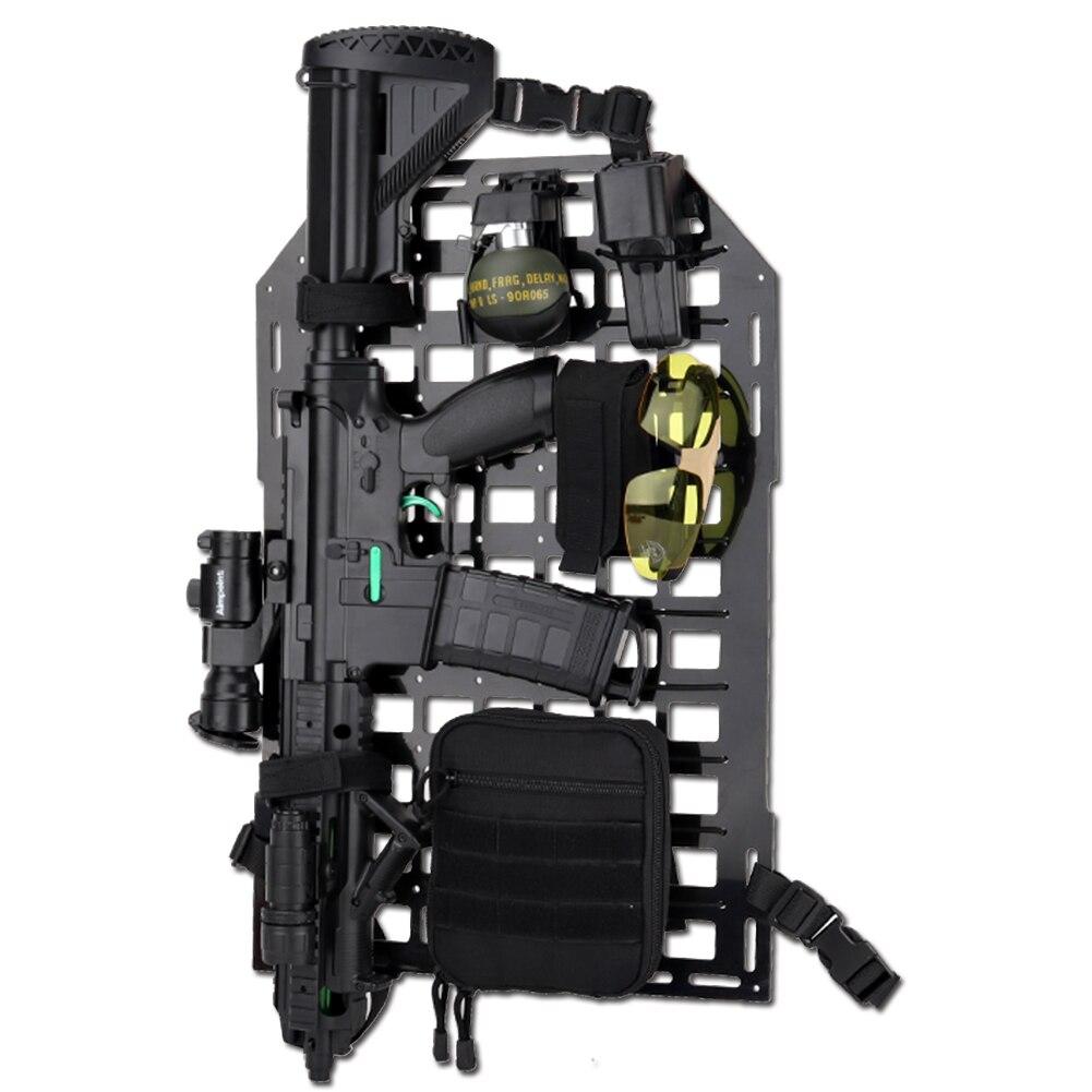 Équipement de siège de véhicule MOLLE de panneau d'insertion rigide d'organisateur arrière de siège de voiture tactique pour la chasse d'airsoft de Paintball de CS