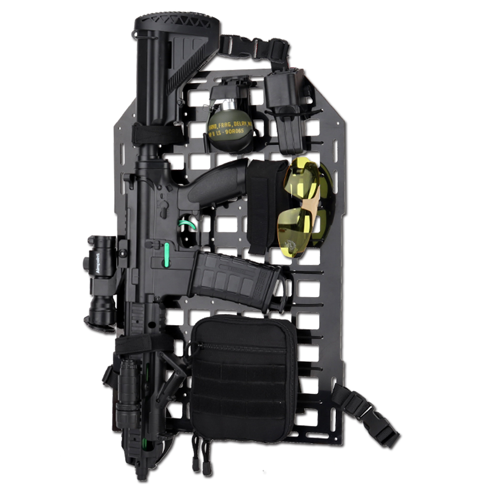 Tactical Car Rear Seat Back Organizer Rigid Insert Panel MOLLE Vehicle Seatback Equipment For CS Paintball Airsoft Hunting