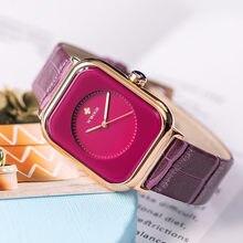 Женские часы wwoor роскошные Фиолетовые женские модный браслет