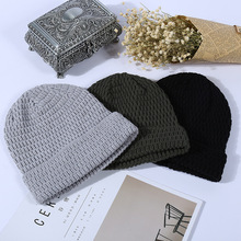 Men and Women Winter Knit Hat Ski Bean Twist Double Wool Caps Fashion Warm Accessories Cap Casual Soft Bonnet