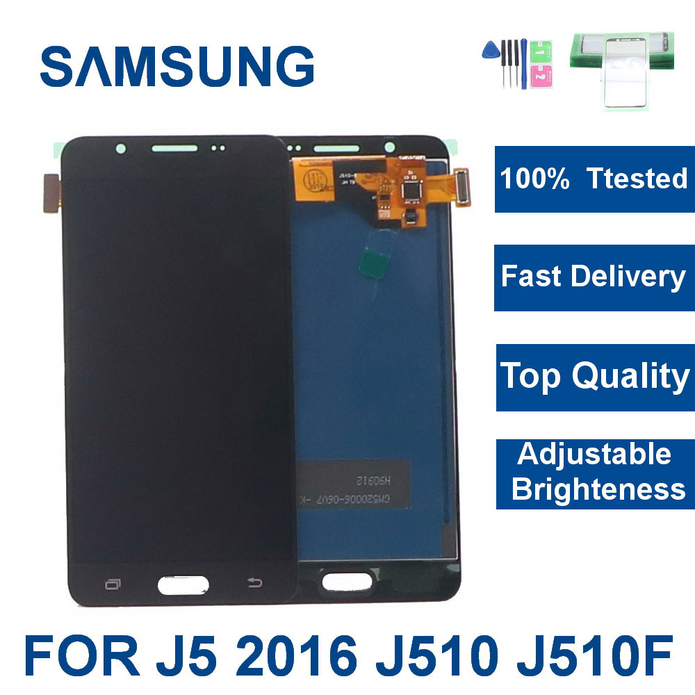 J510 LCD <font><b>Display</b></font> For Samsung Galaxy J5 2016 <font><b>J510FN</b></font> J510F J510M J510H /DS LCD <font><b>Display</b></font> Touch Screen Digitizer Assembly With frame image