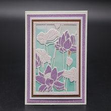 Высекальные штампы с цветущим лотосом для скрапбукинга