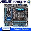 Оригинальная материнская плата ASUS P7H55-M DDR3 LGA 1156, поддержка процессора I3 I5 16 Гб USB2.0 VGA HDMI H55 uATX, настольная, совместимая с HDMI, б/у