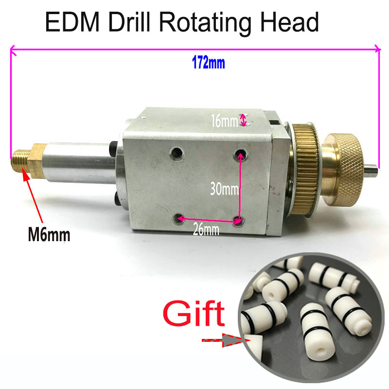 EDM Drill Rotated Head Length 172mm for Electrode Tube Small Hole EDM Drilling Machine image
