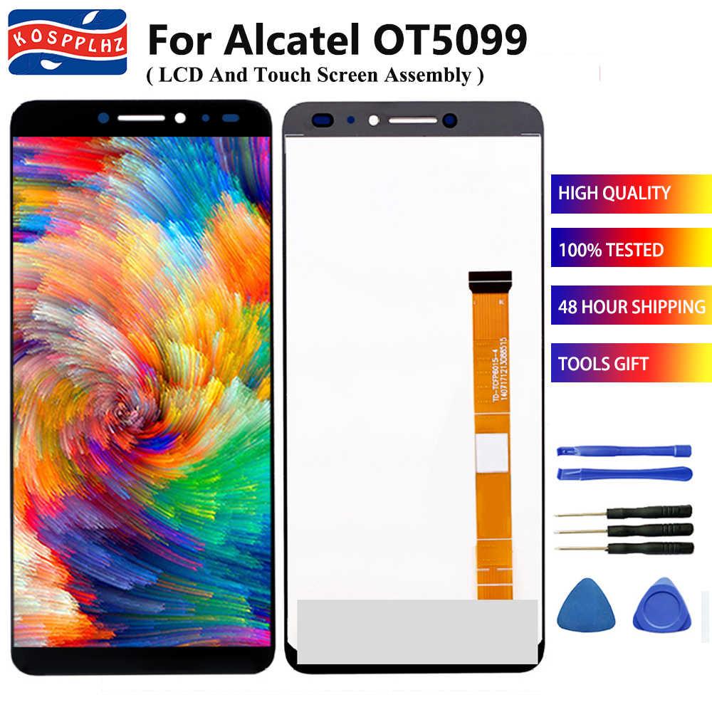 """5,0 """"Für Alcatel 3V OT5099 5099 5099Y 5099U 5099D LCD Display + Touch Screen Sensor Digitizer Montage Ersatz + werkzeuge & Band"""