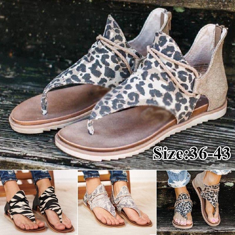 2020 Women Sandals New Leopard Print