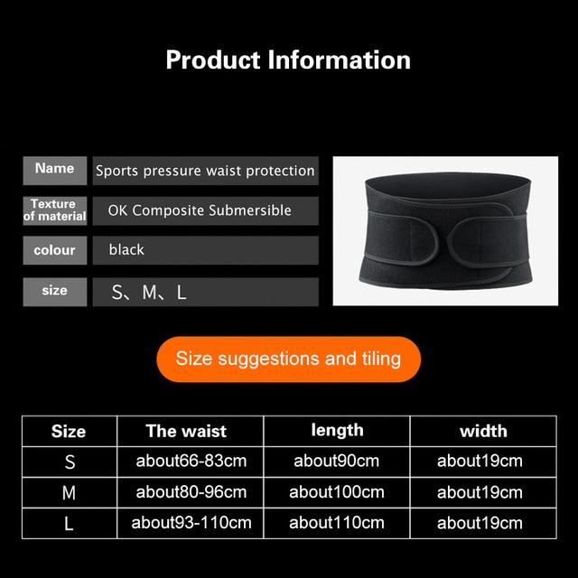 FDBRO Waist Support Corset Sport Breathable Adjustable Back Belt Slimming Boxing Body Protective Gear Waist Trimmer Sweat Belt 5