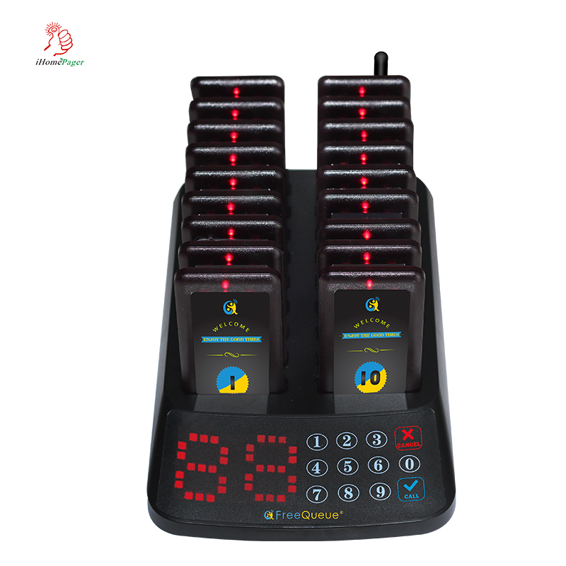 Hot Selling High Quality Waterproof Vibrators Wireless Restaurant Service System with 18 pagers