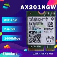 Wi-Fi 6 Intel AX201 Bluetooth 5,0 Dual Band 2,4G/5G Wireless NGFF Wifi Karte AX201NGW 802,11 ac/ax 2,4 Gbps Wlan adapter