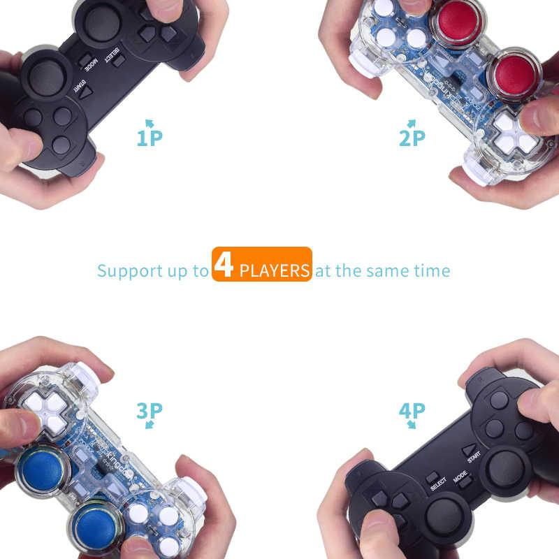 داتا الضفدع ريترو لعبة وحدة التحكم المدمج في 3000 ألعاب 100 ألعاب ثلاثية الأبعاد ل PS1/PSP واي فاي لعبة فيديو وحدة التحكم دعم إخراج HDMI