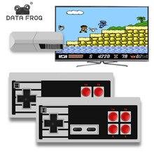 DATA FROG 8 bitów gra wideo konsola wbudowana w 600 klasyczne gry Mini Retro konsola kontroler bezprzewodowy wyjście telewizyjne podwójne odtwarzacze