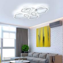 Modern Led Chandelier Ring Lamps Cloud Acrylic White Metal Light Fixtures Living Room Bedroom Kitchen Decor Home Lighting 220V