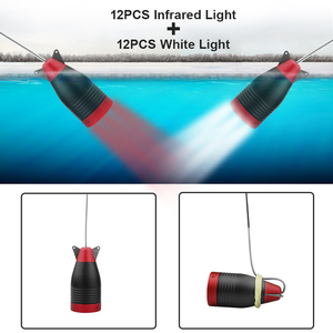 """Image 3 - Erchang 1000TVL Vissen Camera 7 """"Inch 15M Onderwater Camera Voor Vissen 12Pcs Infrarood + 12 Stuks Wit lamp Fishfinder Voor Ijs/Zee"""