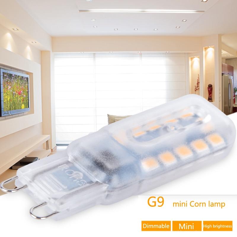 Mini LED Lamp G9 High Bright Lampada LED 220V 14  22 32 SMD2835 Bombillas Dimmable LED Bulb 360 Degree Ampoule