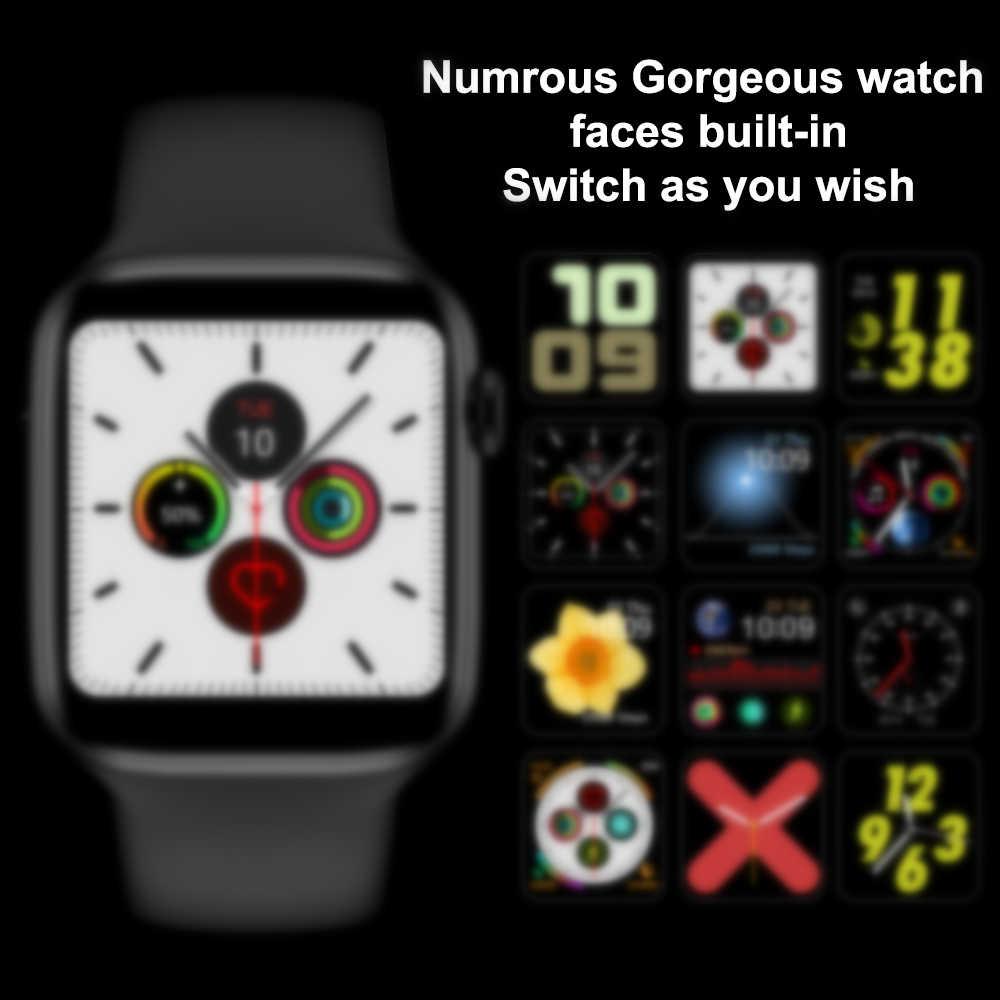 Dehwsg IWO 8 Lite Đồng Hồ Thông Minh Smart Watch Series 5 Iw8 W34 Pro Điện Tâm Đồ Thể Thao Nhịp Tim Cho Apple IOS android Dây PK IWO 9 10