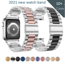 Metal Band For Apple Watch 6 5 4 3 2 42mm 38mm 40MM 44MM Stainless Steel Watchbands Bracelet Strap for iWatch Series Accessories