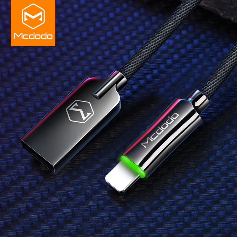 MCDODO Auto Disconnect Fast Charging For iPhone USB Cable For iPhone XS MAX X Data Cable