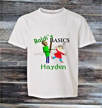 PERSONALISED BALDI BASICS top kids gift youtube t shirt boy girl clothes KT02(China)
