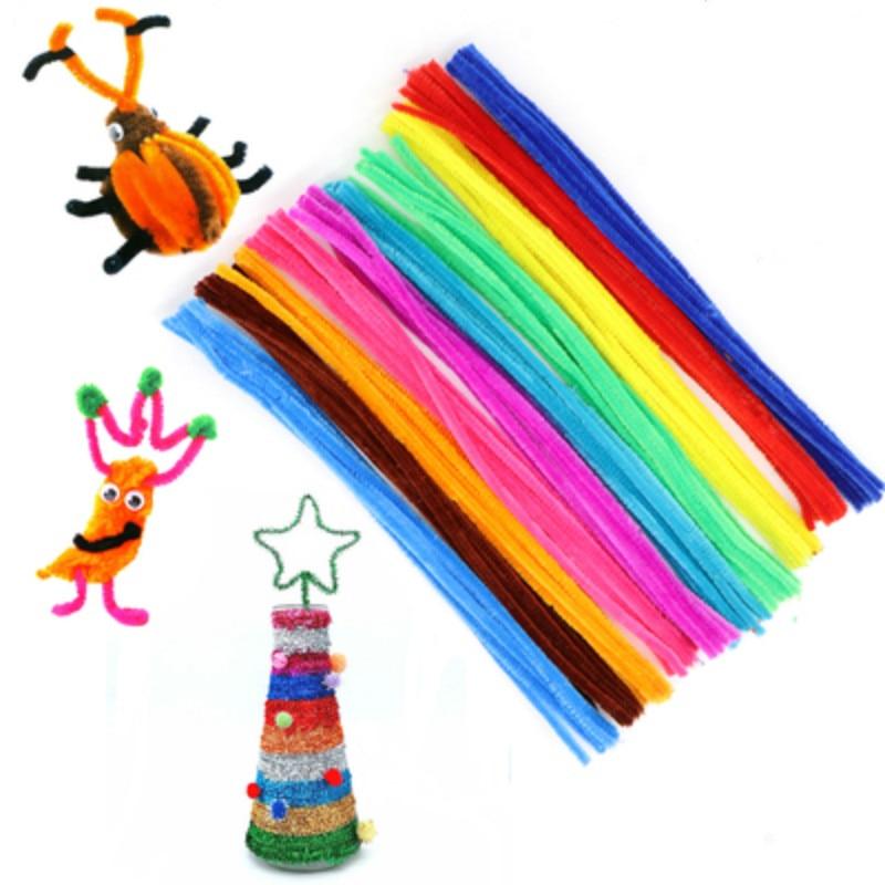 100pcs diy plush stick toys for children arts manualidades pompom bricolage jouet kids montessori education toy ??????? ???????