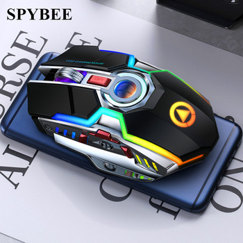 Wireless Mouse Rechargeable Silent LED Backlit Mice USB Optical Ergonomic 7 Keys Gaming Mouse For Laptop Computer