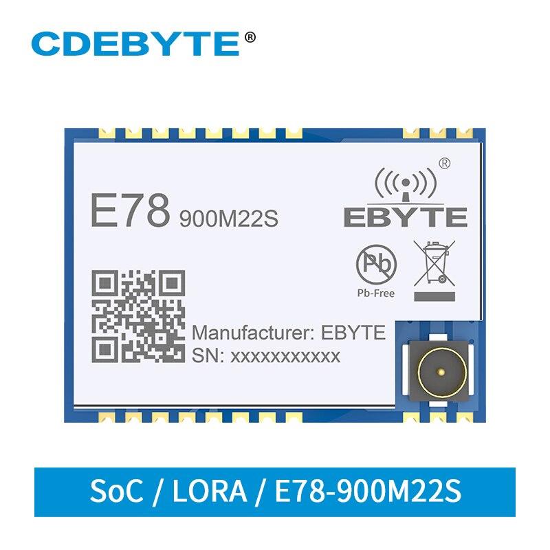 E78-900M22S LoRaWAN Module 868MHz 915MHz SoC LoRa Transceiver 22dBm Stamp Hole IPEX Wireless RF Radio Module