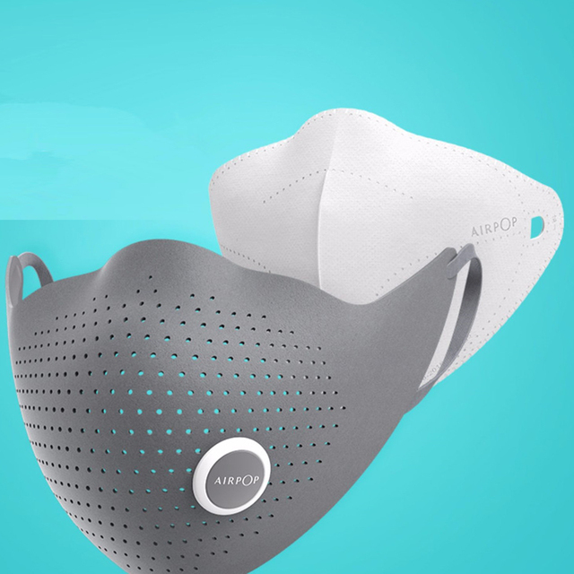 Youpin AirPOP Air Wear PM0.3/PM2.5 Anti-haze Face Mask With 2pcs Filter Adjustable Ear Hanging Comfortable Face Masks 2