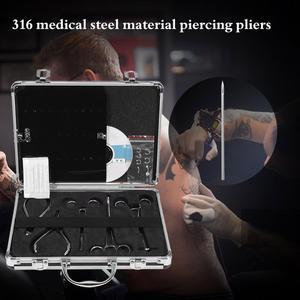 Image 5 - Profissional kit de ferramentas tatuagem 5 pces piercing alicates/15 pces piercing agulhas/um saco do corpo piercing jóias e um cd ensino